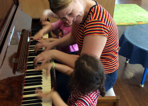 A piano in each classroom